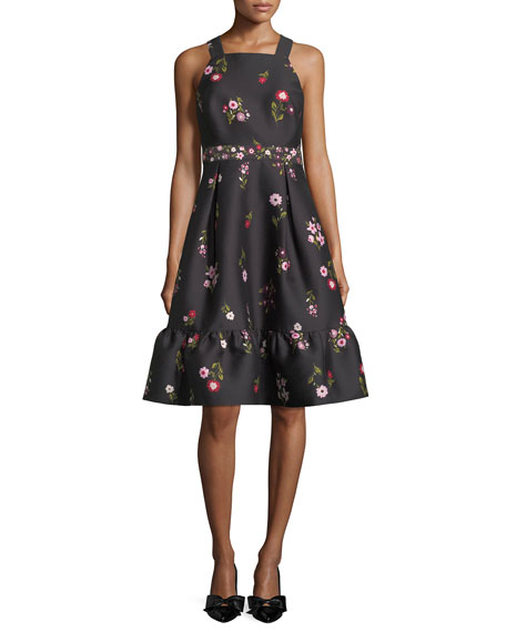 kate spade new york in-bloom fit-and-flare sleeveless dress