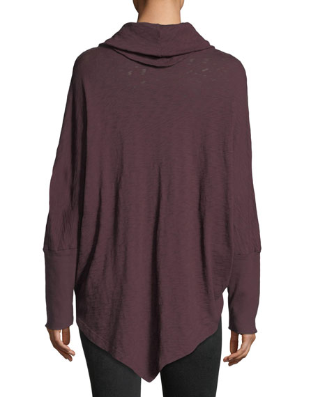 Cowl-Neck Long-Sleeve Sweater