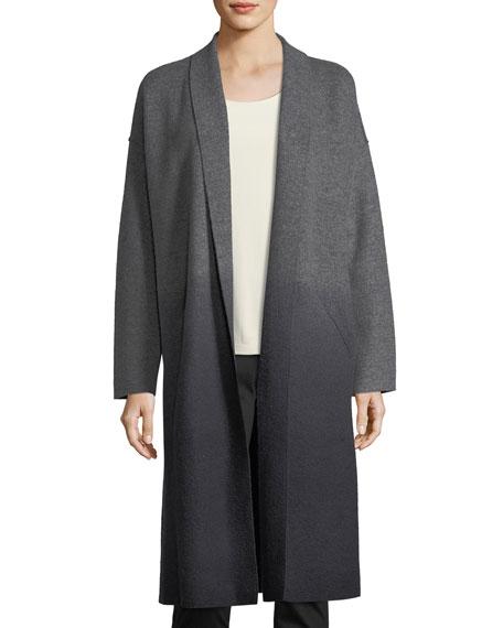 Eileen Fisher Ombre Boiled Wool Kimono Coat, Plus