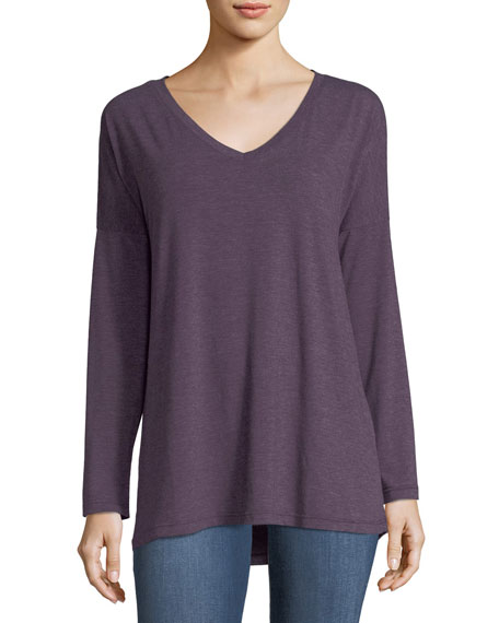 Drop-Shoulder Long-Sleeve Tee