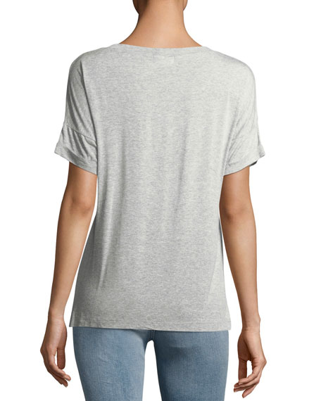 Twist-Front Short-Sleeve Tee
