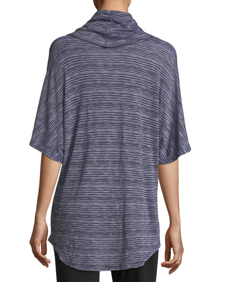 Cowl-Neck Striped Top
