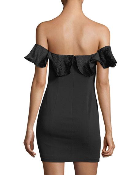 Rosebery Off-the-Shoulder Ruffled Mini Dress