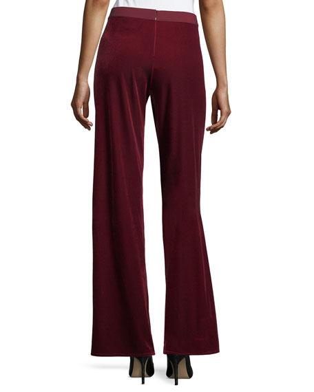 Velvet Wide-Leg Pants, Plus Size