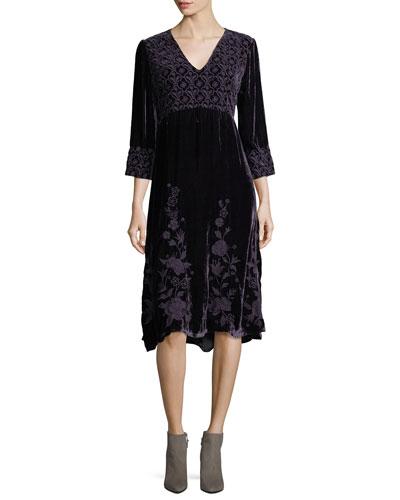 Parina Long Velvet Dress