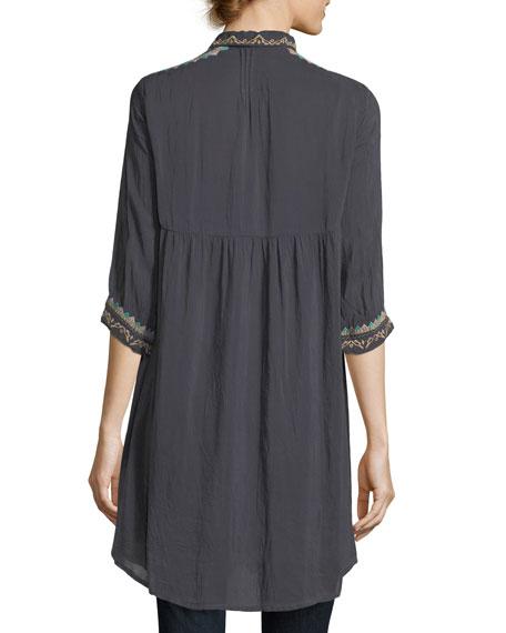 Brisa Button-Front Shirtdress, Plus Size