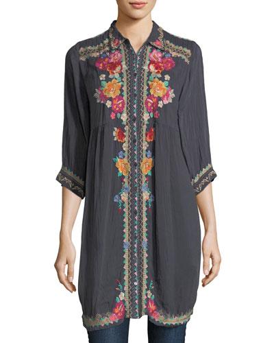 Brisa Button-Front Shirtdress
