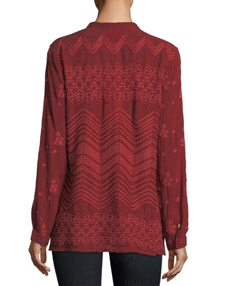 Zigzag Popover Tunic, Plus Size