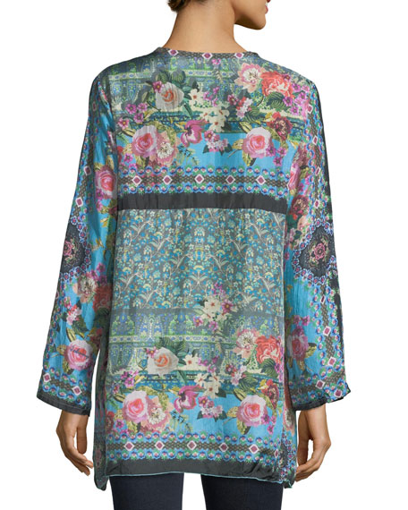 Besimo Silk Embroidered Tunic