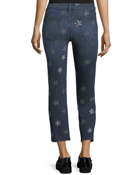 The Rollin Mid-Rise Straight-Leg Cropped Jeans