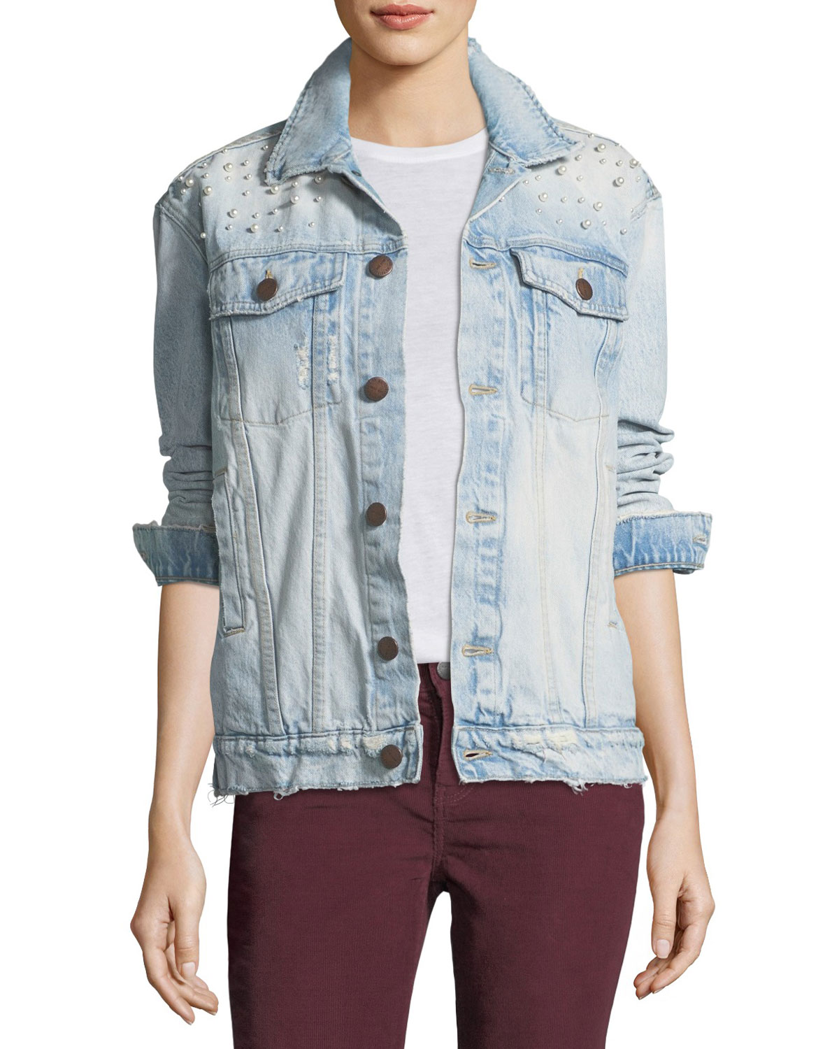cb58fb7c0 Current Elliott Boyfriend Trucker Denim Jacket
