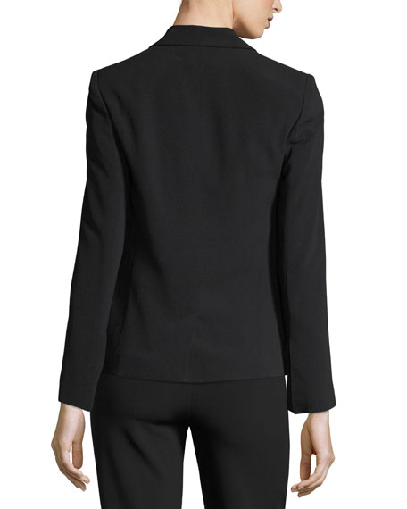 Vedy Single-Button Crepe Blazer
