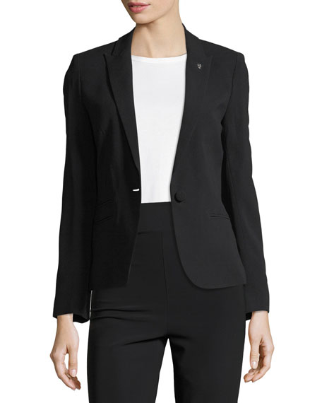 Zadig & Voltaire Vedy Single-Button Crepe Blazer