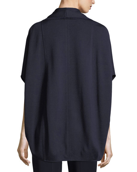 Circular Milano Knit Cape Jacket