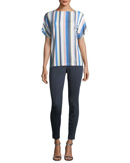 Blurred Multi-Stripe T-Shirt