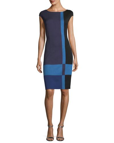 Colorblock Milano Knit Dress