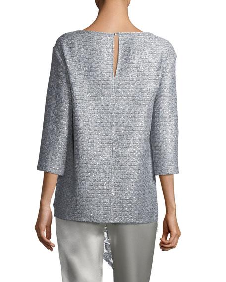 Metallic Sequined Knit Top