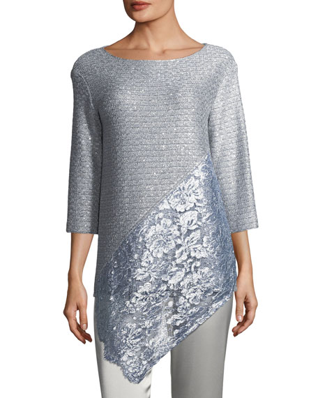 Metallic Sequined Knit Top