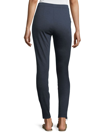 Melange Stretch-Ponte Pull-On Leggings