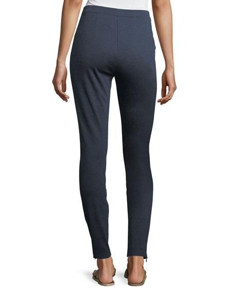 Melange Stretch-Ponté Pull-On Leggings