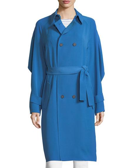 Drapey Twill Trench Coat