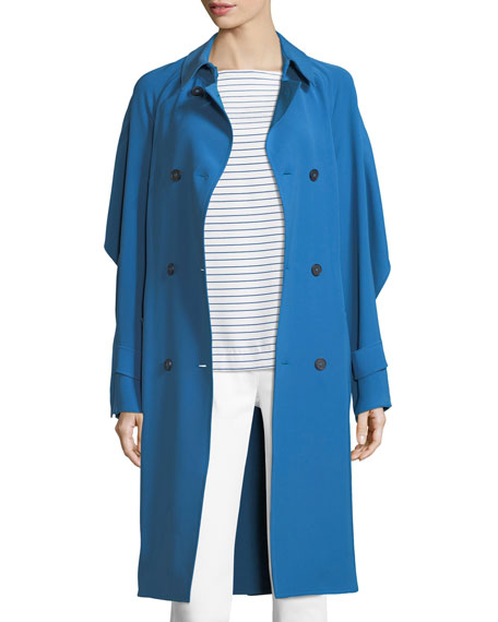 St. John Collection Drapey Twill Trench Coat