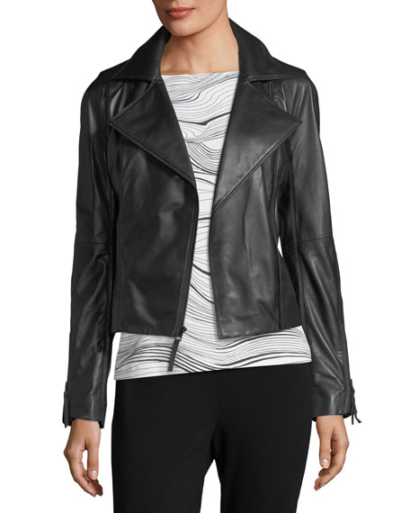 Luxe Napa Leather Moto Jacket