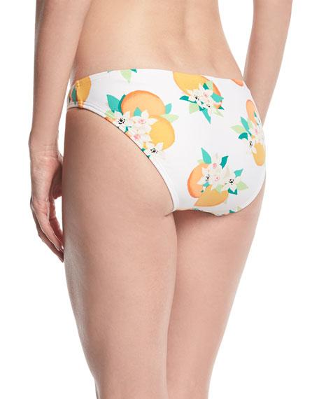 tropical fruit & floral hipster bikini bottom