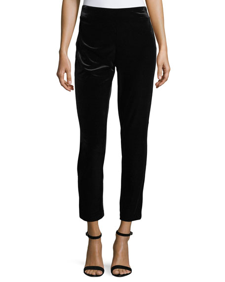 NYDJ Straight-Leg Velvet Ankle Pants