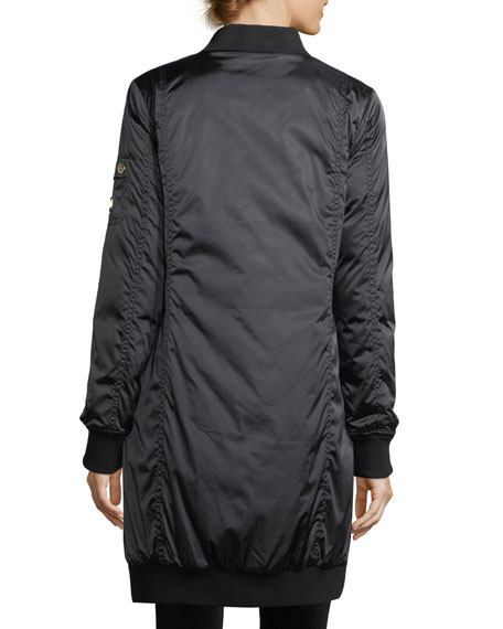Celine Zip-Front Insulated Long Coat