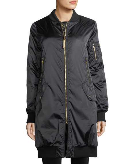 Bogner Sport Celine Zip-Front Insulated Long Coat