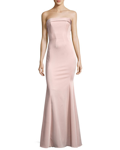 Malena Strapless Trumpet Evening Gown