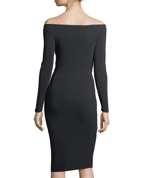 Janette Off-the-Shoulder Asymmetric-Banded Cocktail Dress