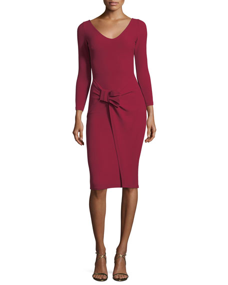 Chiara Boni La Petite Robe V-Neck Long-Sleeve Side