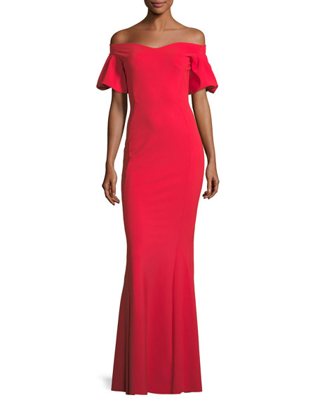 Chiara Boni La Petite Robe Guendalina Off-the-Shoulder Trumpet