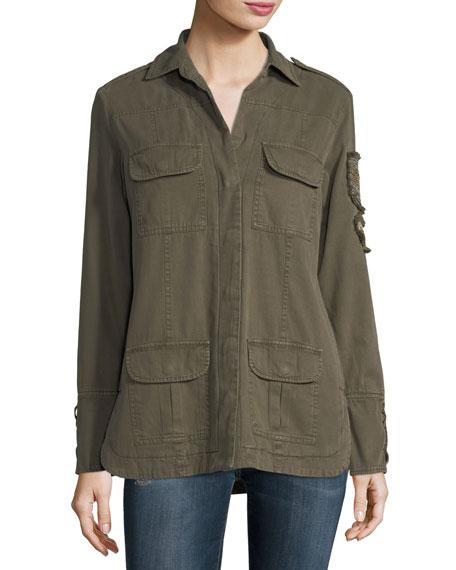 Soft Cotton-Blend Patch Jacket