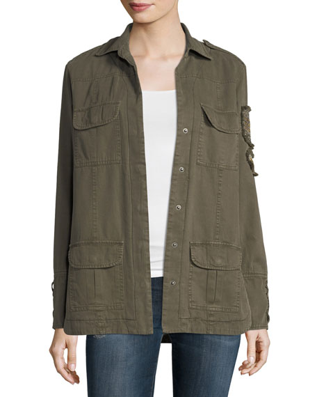 Willow & Clay Soft Cotton-Blend Patch Jacket