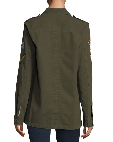 Army Patch Cotton Jacket