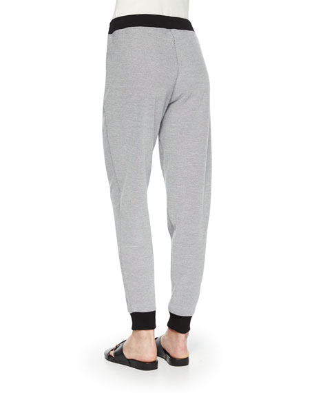 Two-Tone Jog Pants, Plus Size