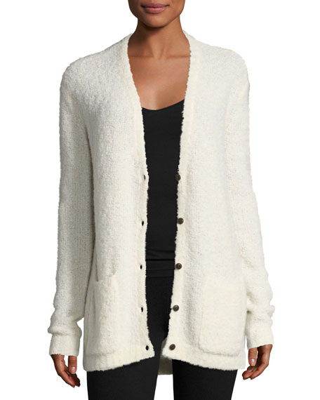 ATM Anthony Thomas Melillo Alpaca V-Neck Button-Front Cardigan