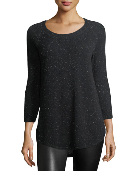 Donegal Round-Neck Speckled Cashmere Sweater