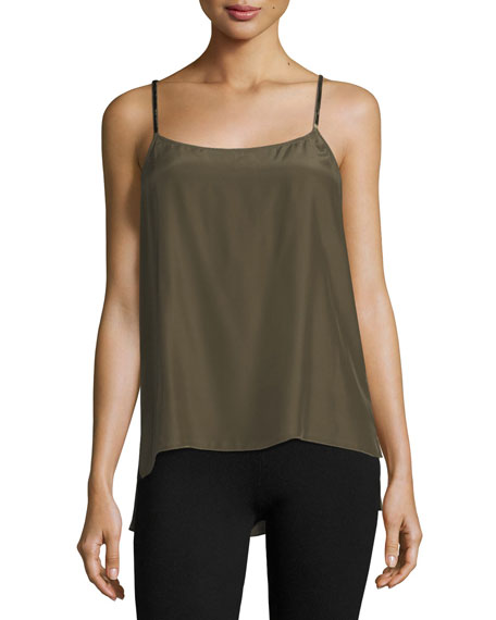 ATM Anthony Thomas Melillo Scoop-Neck Satin Camisole w/