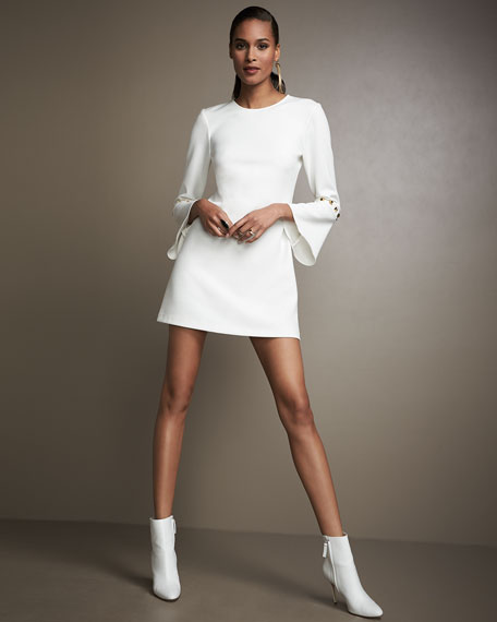 Laureston Bell-Sleeve Babydoll Dress