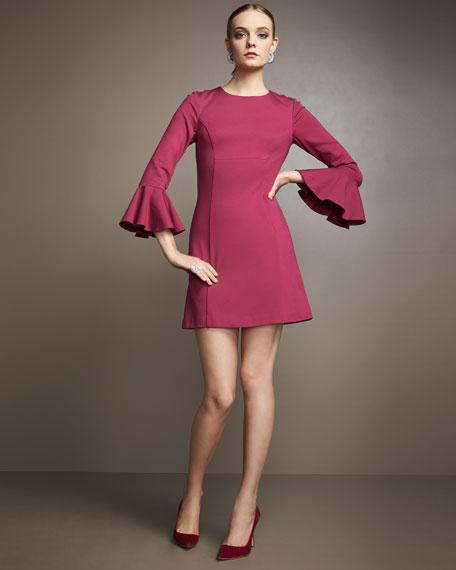 Panache Jewel-Neck Straight Day Dress