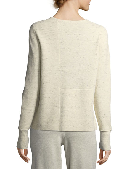 Peppered Organic Cotton/Wool Knit Top, Plus Size