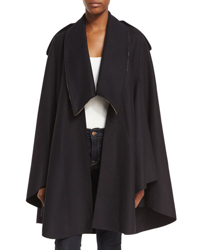 TYDEHILL WOOL CAPE WITH DROP