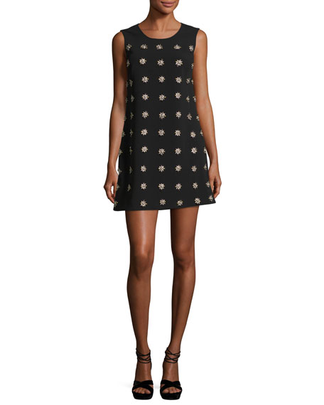 Lindsey Embellished Sleeveless Mini Shift Dress
