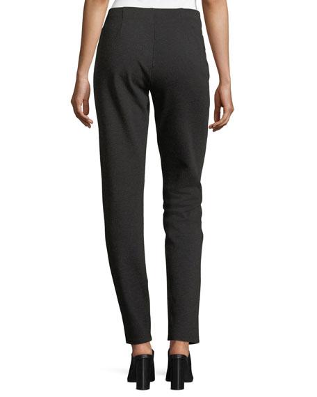 Melange Stretch-Ponte Slim Pants