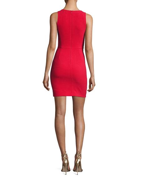 Alivia V-Neck Sleeveless Fitted Midi Dress