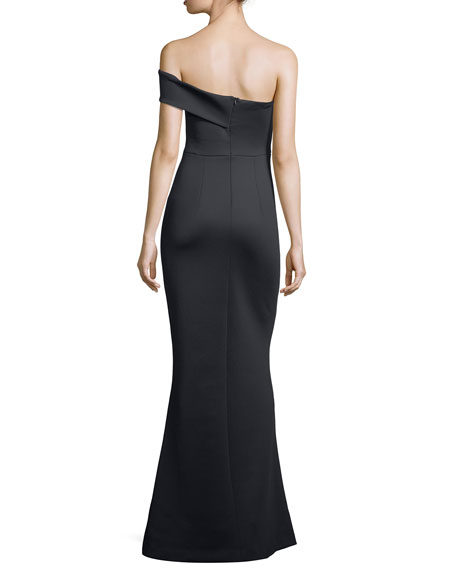 Strapless Neoprene Mermaid Evening Gown